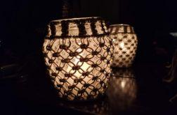 świecznik z makramą /middle size/