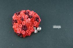 różane serce - czerwone