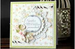 Kartka z kwiatami gratulacje narodziny