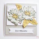 Kartka UNIWERSALNA - popielato-szare kwiaty - Kartka Uniwersalna - popielato-szare kwiaty