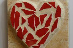 serduszko z mozaiki - magnes
