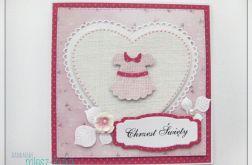 Kartka z sukienką na Chrzest dla dziewczynki