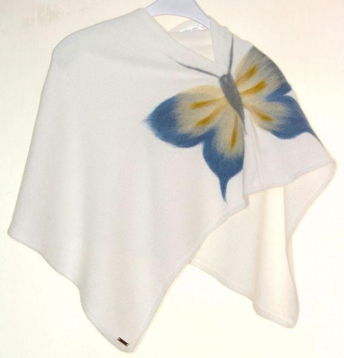 Ponczo dla dziewczynek z motylem 12