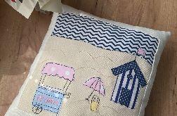 Lody na plaży - dekoracyjna poduszka