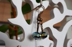 Kolczyki handmade kryształki benzynowe