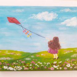"""Obraz """"Dziewczynka z latawcem"""""""