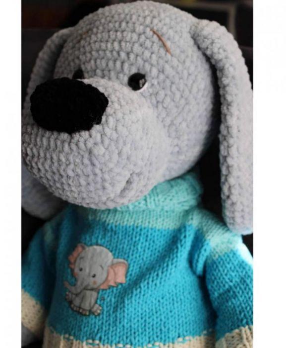 Bąbelek szydełkowy pies - maskotka