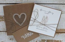 Oryginalna kartka na ślub z pudełkiem 32a