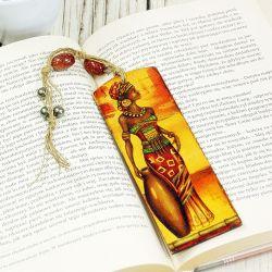 drewniana zakładka do książki- Afryka.