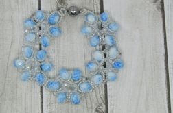Bransoletka CANDY Blue, white and crystal