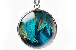 Jungle leaf naszyjnik z ilustracją