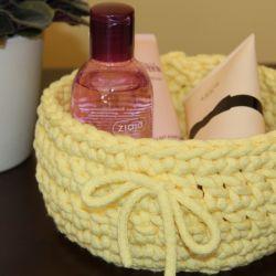 Koszyczek bawełniany(żółty)