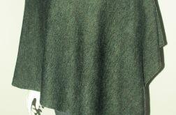 Klasyczne gładkie ponczo khaki