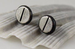 Śrubki - srebrne sztyfty