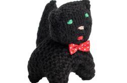 Kotek z kokardką czarny