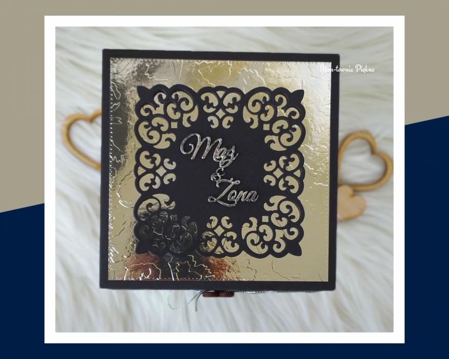 Kartka z okazji ślubu Glamour - pudełko