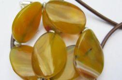 Żółte agaty.Naszyjnik,bransoletka
