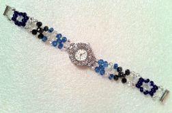 bransoletka z zegarkiem niebieska