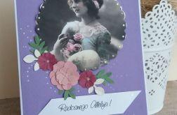 WIELKANOC - kartka z dziewczyną