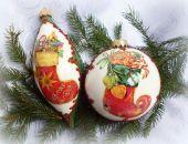 Komplet bombek ,,Świąteczne skarpety z prezentami,,