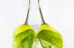 Kolczyki Silk długie limonka