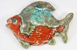 Ryba ceramiczna zielono pomarańczowa