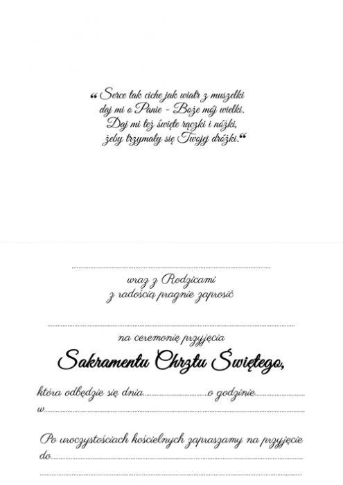 Zaproszenie Na Chrzest Chrzciny Roczek 3 Papierowe Skarby