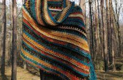 Navajo hippie boho obszerny szal
