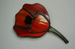 Mak Broszka witrażowa Tiffany kwiatek maczek