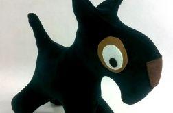 Terier z czarnego aksamitu