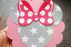 Zaproszenie na urodzinki dla dziewczynki Minnie okrągłe ZUD 008