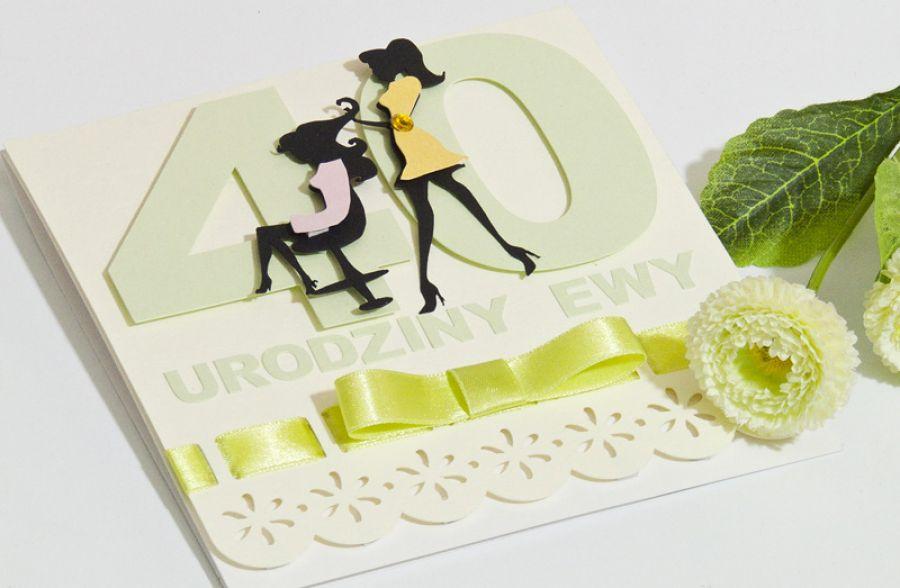 Kartka na 40 Urodziny dla fryzjerki -