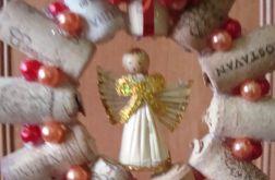 """wieniec bożonarodzeniowy """"korkowy anioł"""""""