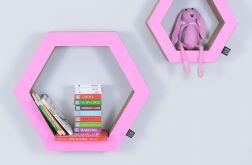 Półka na książki HEXAGON | różowy