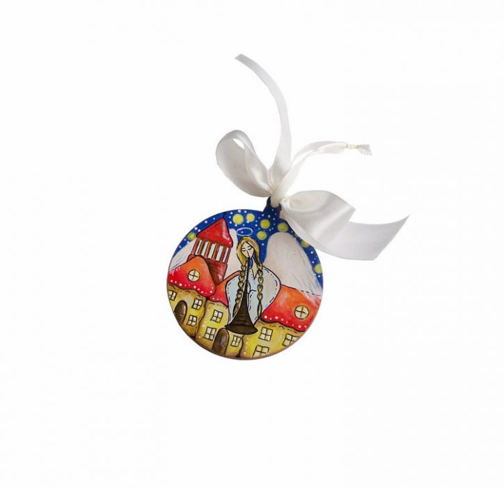 Bombka malowana ręcznie Anioł -