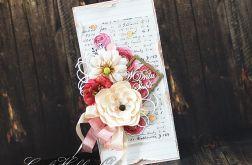 Różana kartka ślubna
