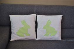 Poszewka z zielonym królikiem