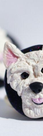 West Highland White Terrier - kolczyki