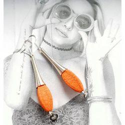 4685 długie kolczyki pomarańczowe 8,5 cm