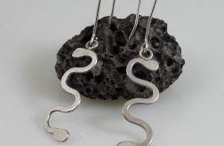 Wężyki 2 - srebrne kolczyki