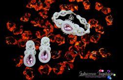 Biżuteria ślubna ivory pudrowy róż