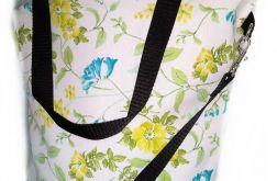 Torebka damska torba shopper kwiatuszki