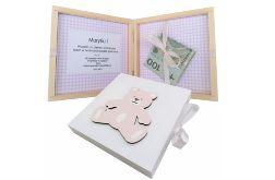 Pamiątka Chrztu Świętego, pudełko na pieniądze- Pp08