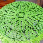 Serweta w zieleni - szydełkowa serweta
