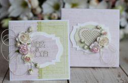 Kartka z pudełkiem - romantyczny ślub1