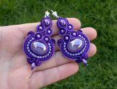 Kolczyki sutasz Fioletowo-purpurowe