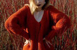 rudy sweter - płaszcz