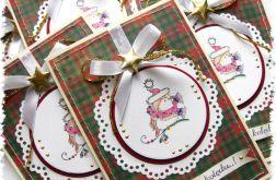 Kartka świąteczna z ptaszkiem