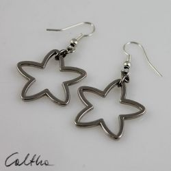 Gwiazdki - metalowe kolczyki