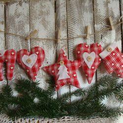 Komplet zawieszek świątecznych